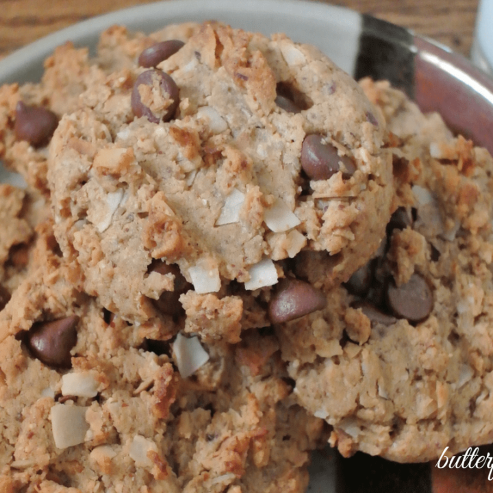 Almond Joyful Cookies — Almond Butter, Toasted Coconut, and Chocolate Chips