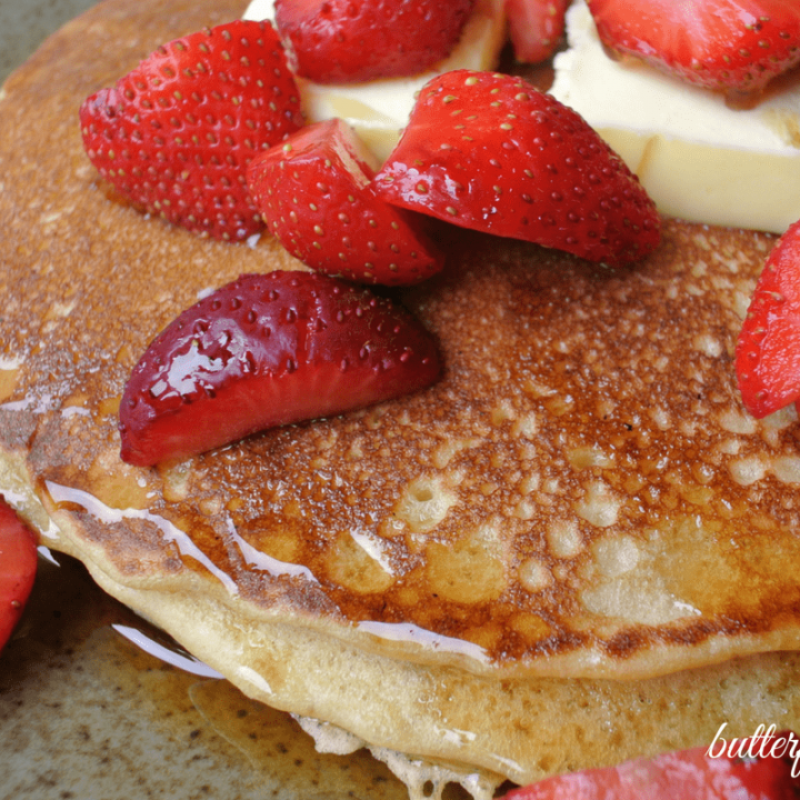 Perfectly Chewy Sourdough Pancakes