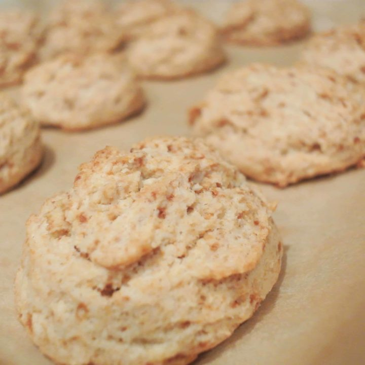 Buttery Coconut Oil Drop Biscuits