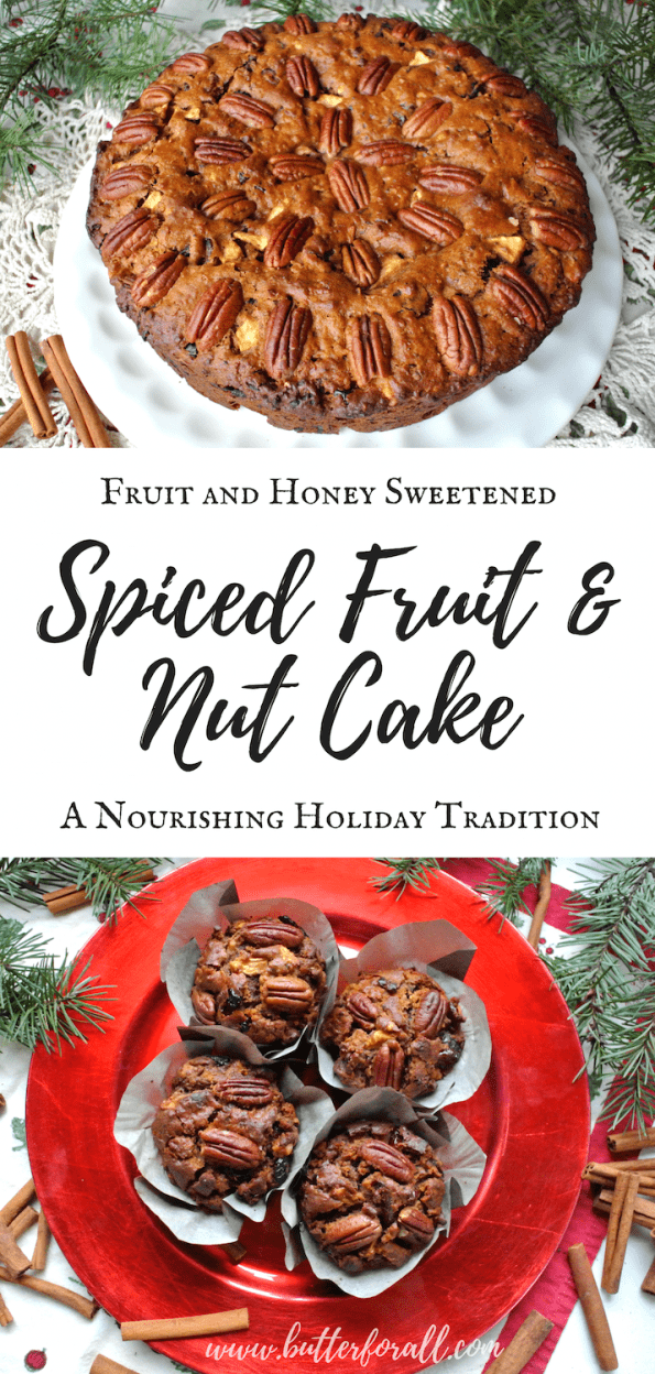Learn how to make this beautiful Spiced Fruit and Nut Cake For a festive holiday!