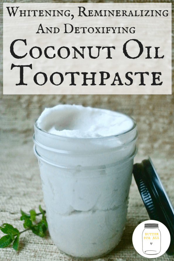 A big jar of the best coconut oil toothpaste with a family friendly minty flavor.