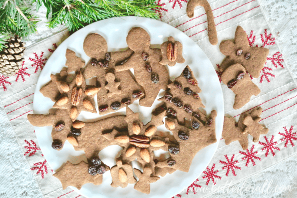 Gingerbread cut-out cookies make a stunning Christmas display.