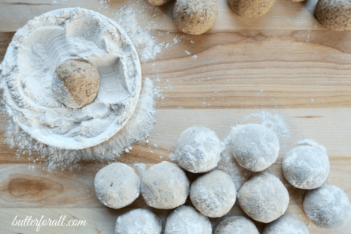 Date And Maple Sweetened Snowballs -Zero Refined Sugar