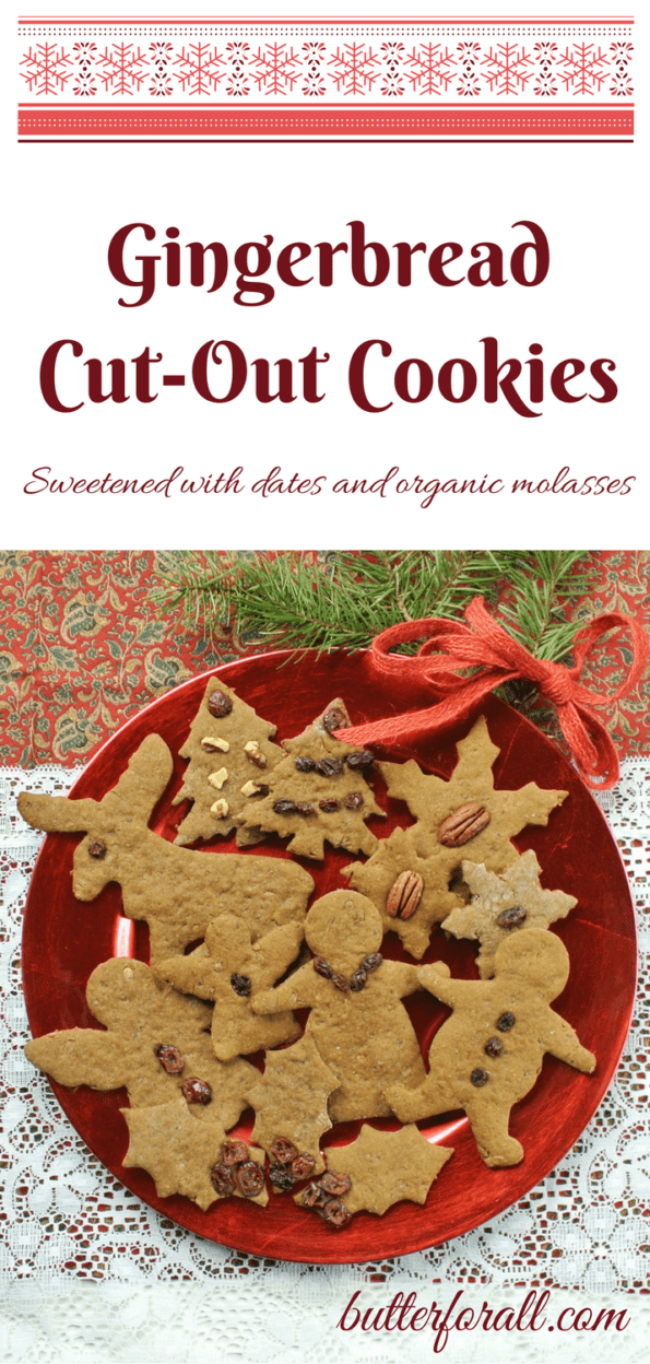 Date Sweetened Gingerbread Cut-Out Cookies