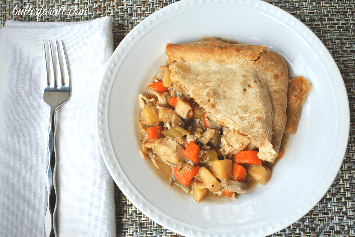 Homemade Old Fashioned Turkey Pot Pie -A Great Way To Use Leftover Turkey And Gravy