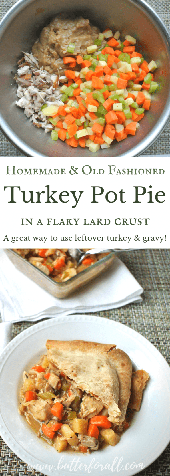 This homemade turkey pot pie is the perfect way to use those amazing Thanksgiving leftovers!