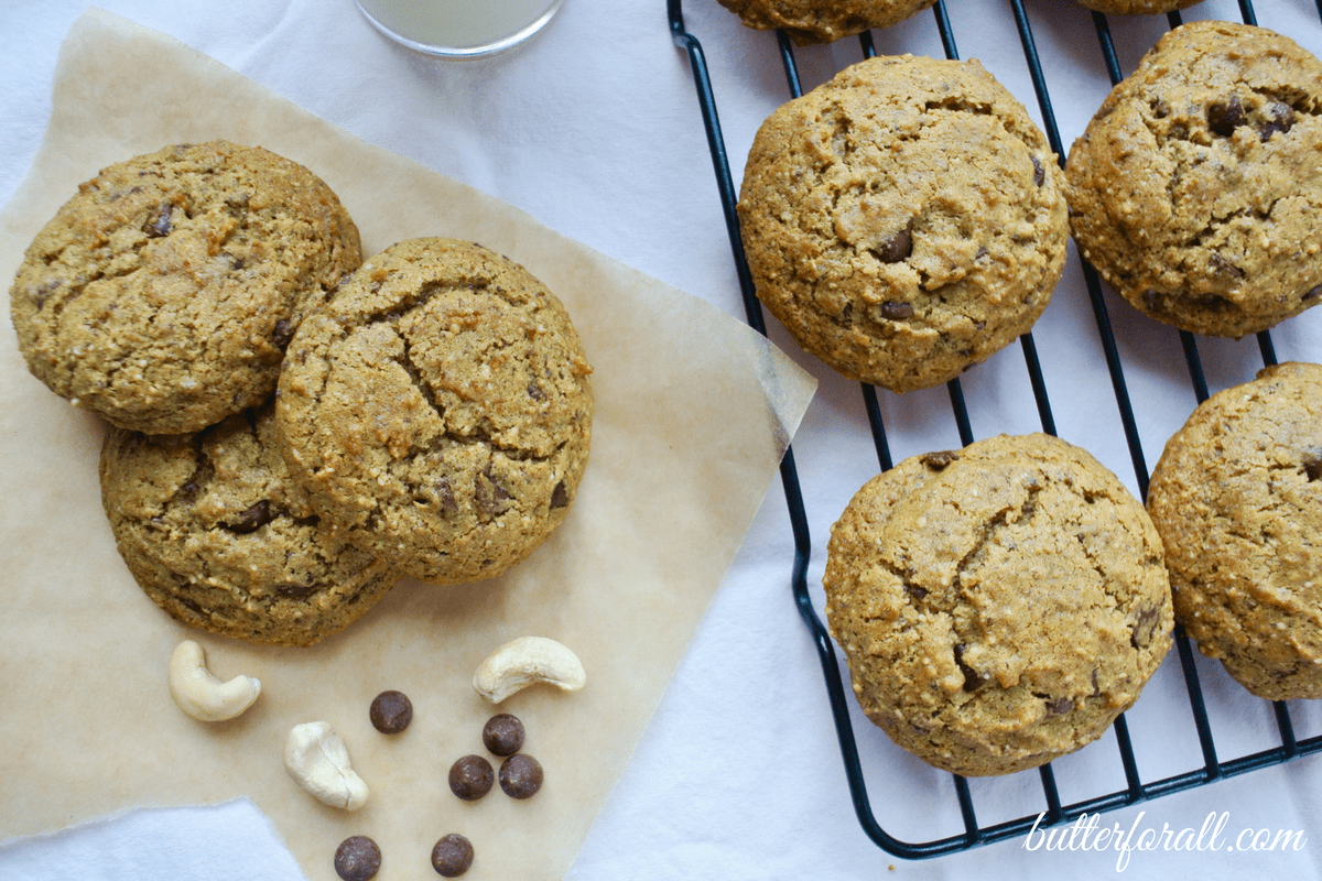 Chocolate Chip Cashew Cookies