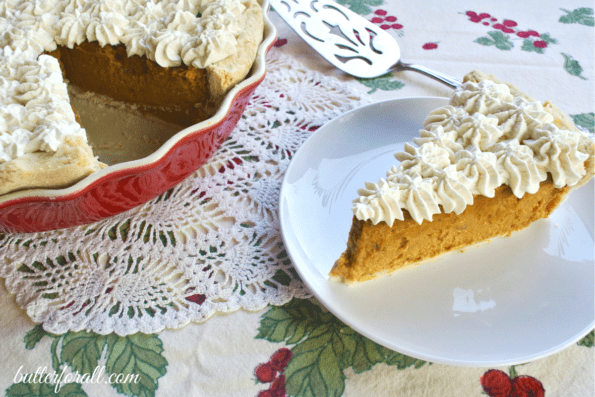 Date Sweetened Winter Squash Pie With Maple Whipped Cream