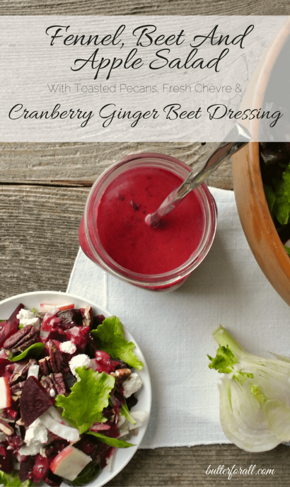 Fennel Beet And Apple Salad With Ginger Beet Dressing