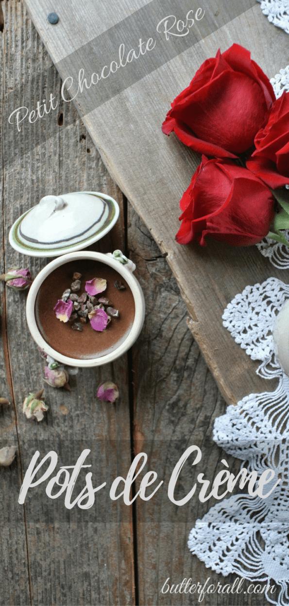 Petit Chocolate Rose Pots De Crème
