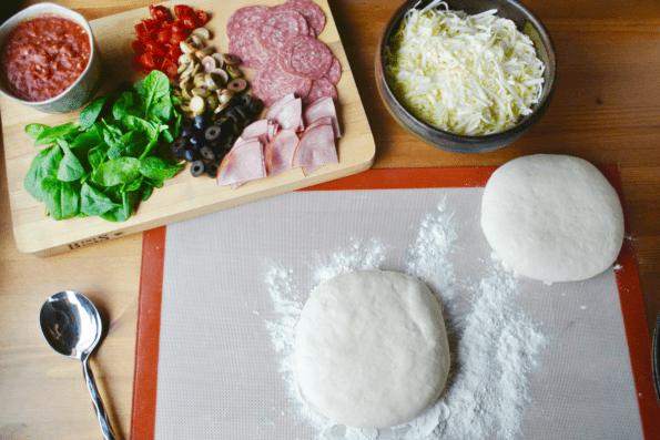 Sourdough pizza dough balls.