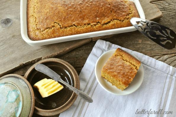 Clabber Milk Corncake-A Healthy Soaked Grain Cornbread
