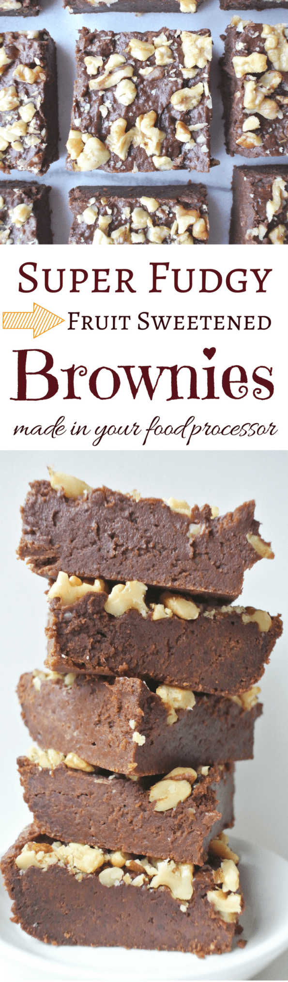 Super Fudgy Fruit Sweetened Brownies