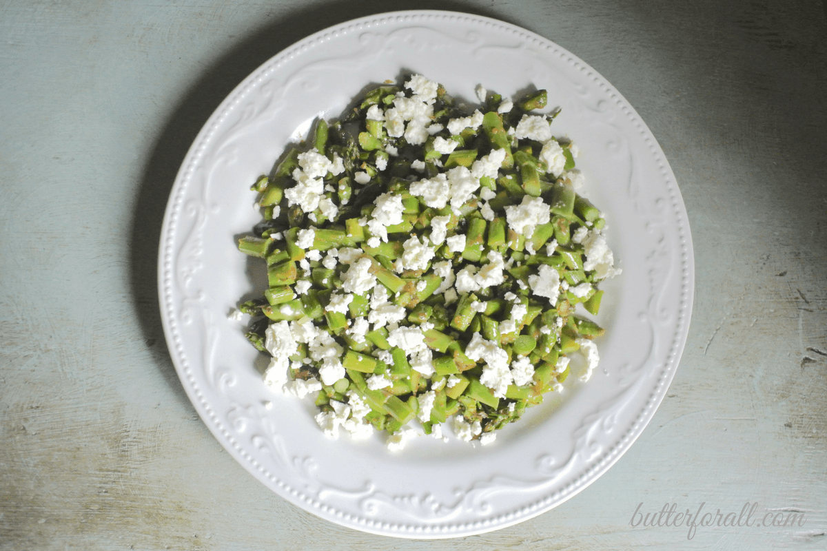 Warm Asparagus, Habanero and Feta Salad