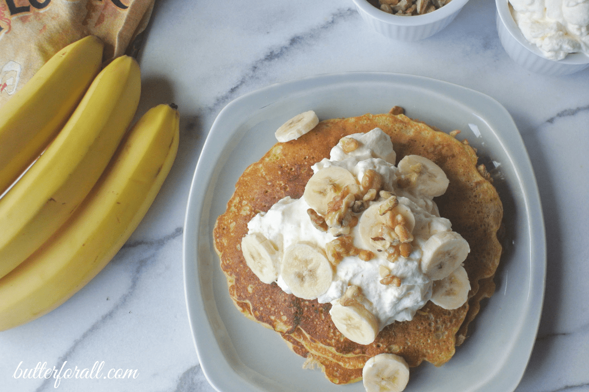 Banana Nut Sourdough Pancakes
