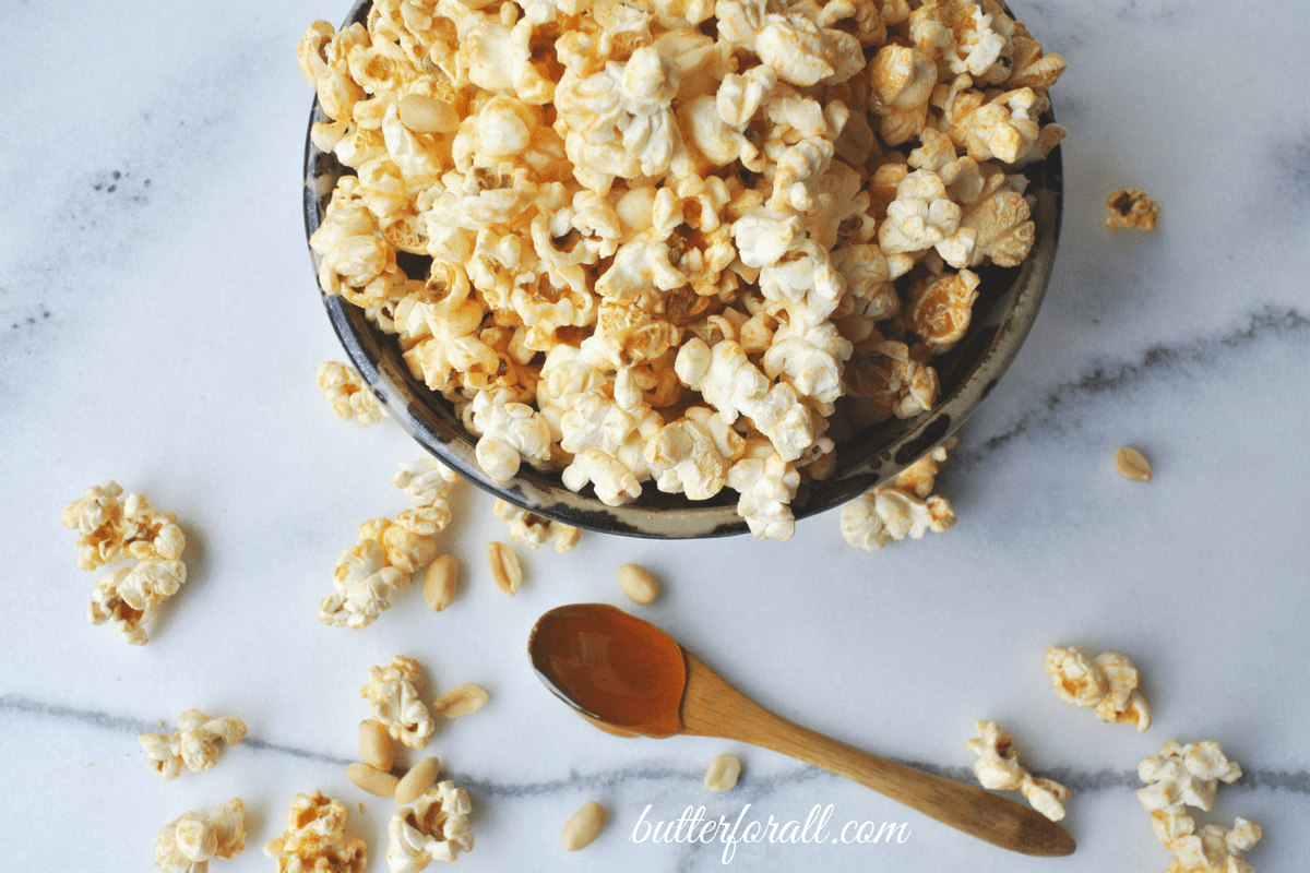Honey Nut Popcorn – A Crispy, Crunchy, Buttery, Nutty, Wholesome Treat!