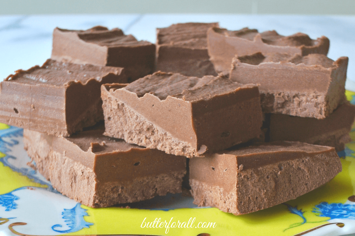Chocolate Coconut Butter Butter Fudge is rich and smooth and loaded with healthy fats!