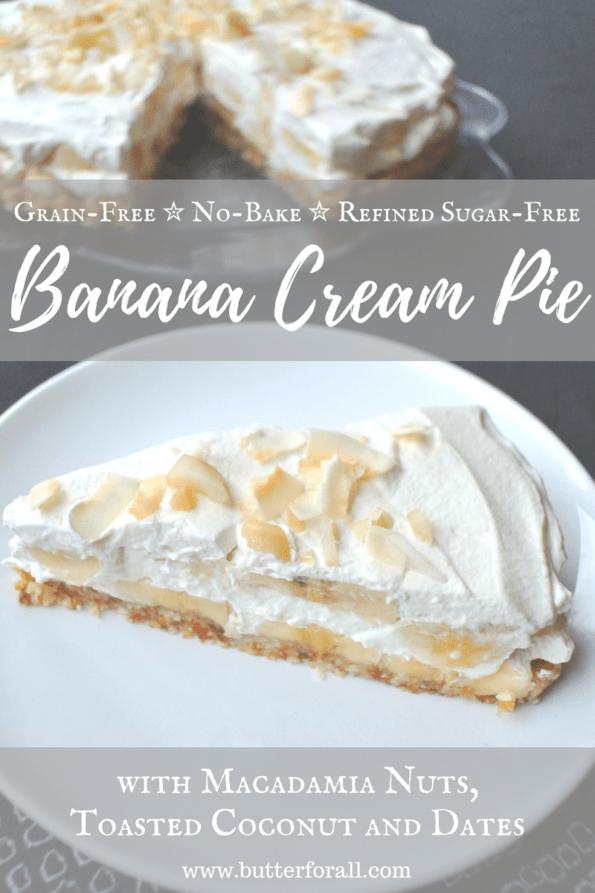 Easy Grain-Free, No-Bake Banana Cream Pie