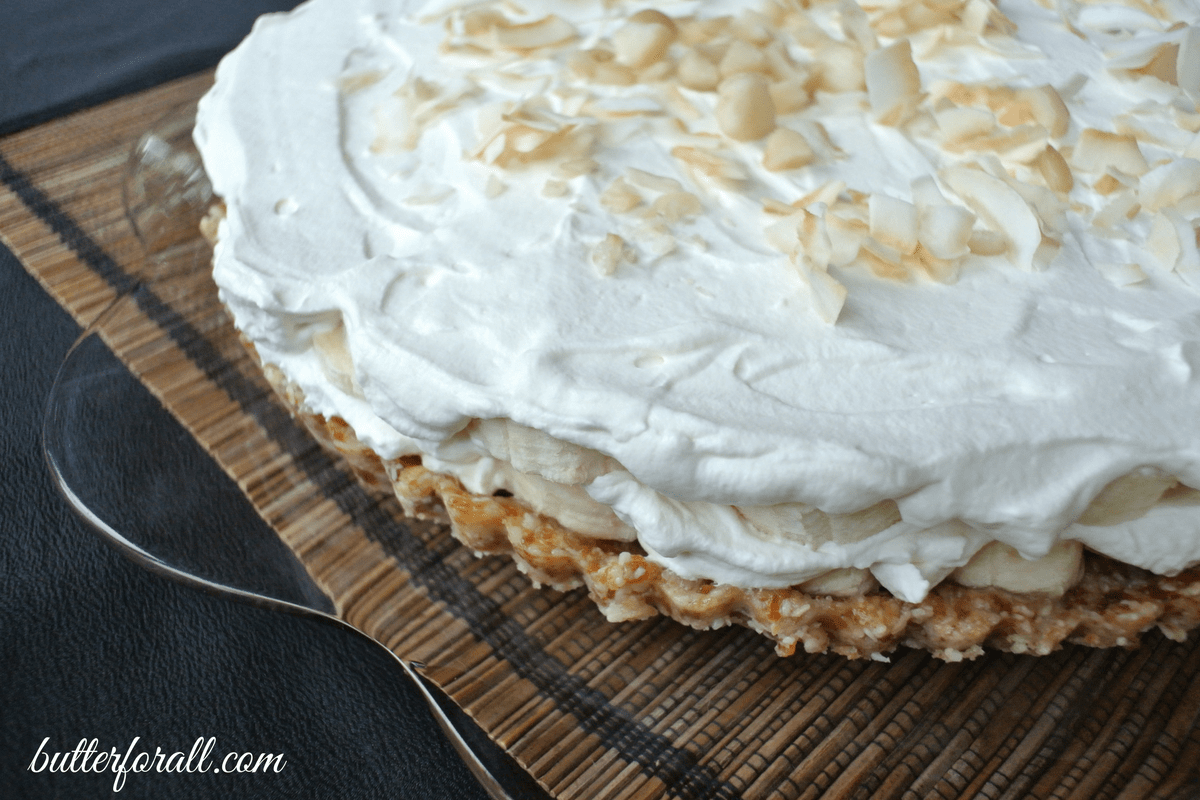 Grain-Free, No Bake Banana Cream Pie