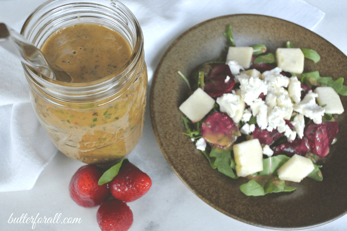 Strawberry Basil Vinaigrette-4 • Butter For All