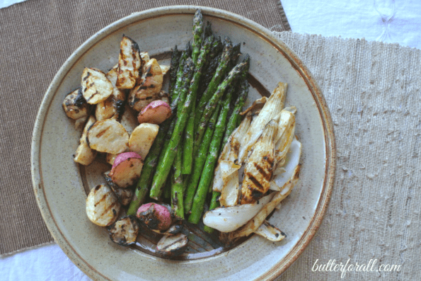 Tahini Marinated Grilled Vegetables