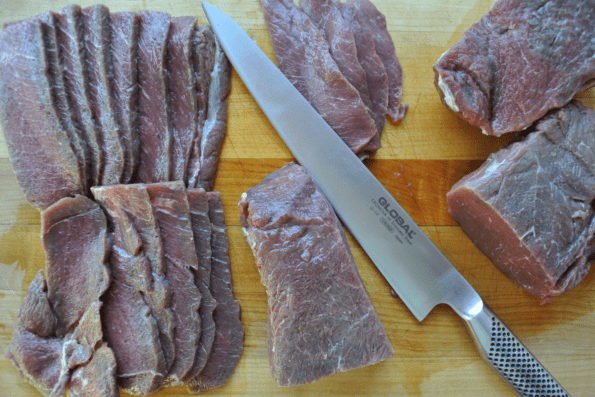 Homemade, Sugar-free, Spicy Herbed Beef Jerky. Paleo and Keto friendly!