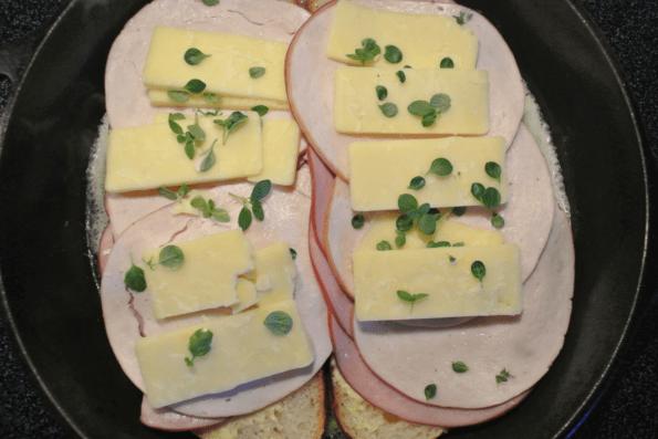 Sourdough, Sharp Cheddar And Thyme Monte Cristo
