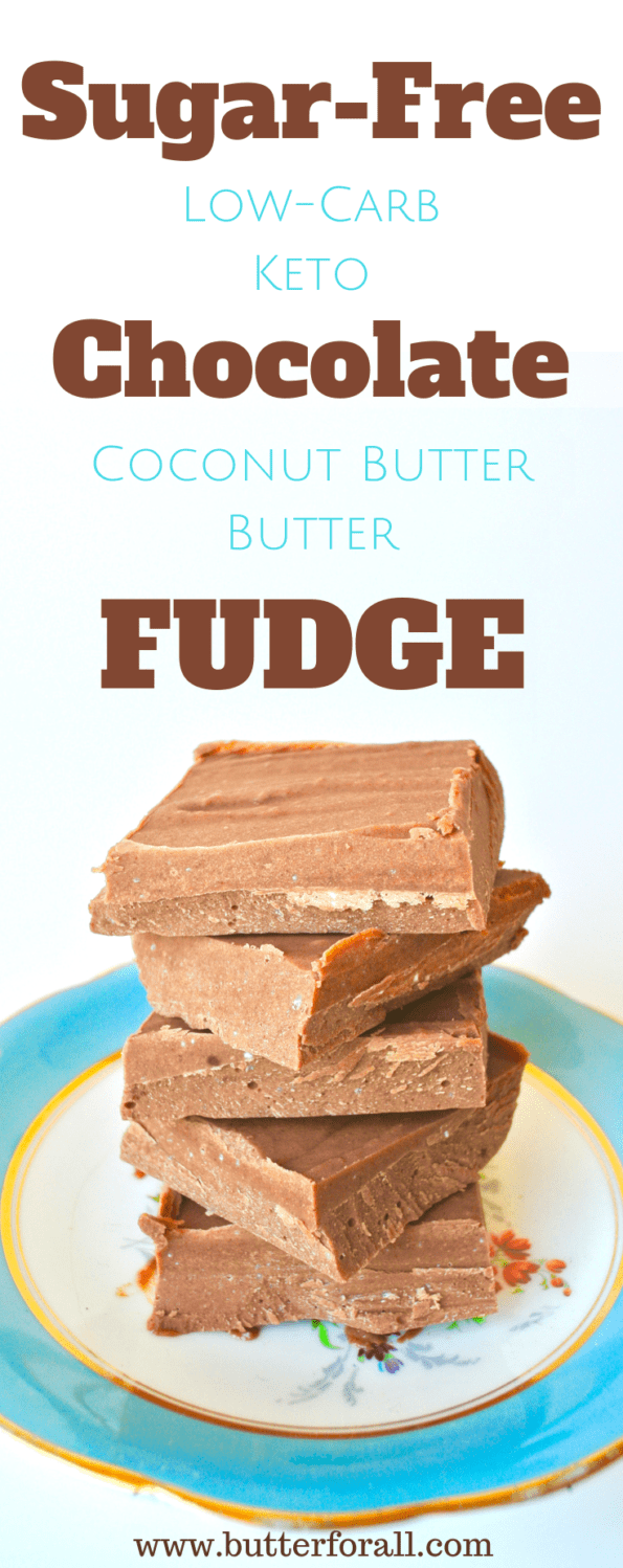 Rich smooth coconut butter fudge with a deep chocolate flavor and zero sugar!