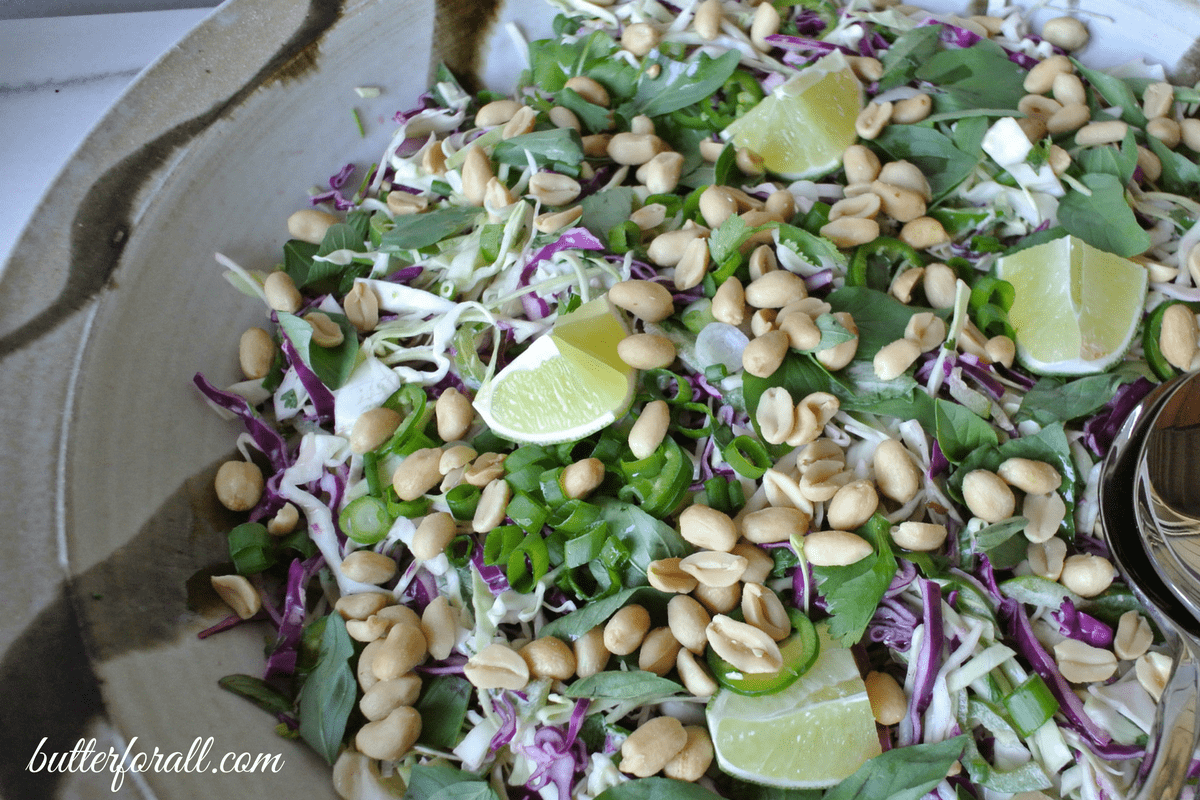 Thai Basil And Roasted Peanut Slaw