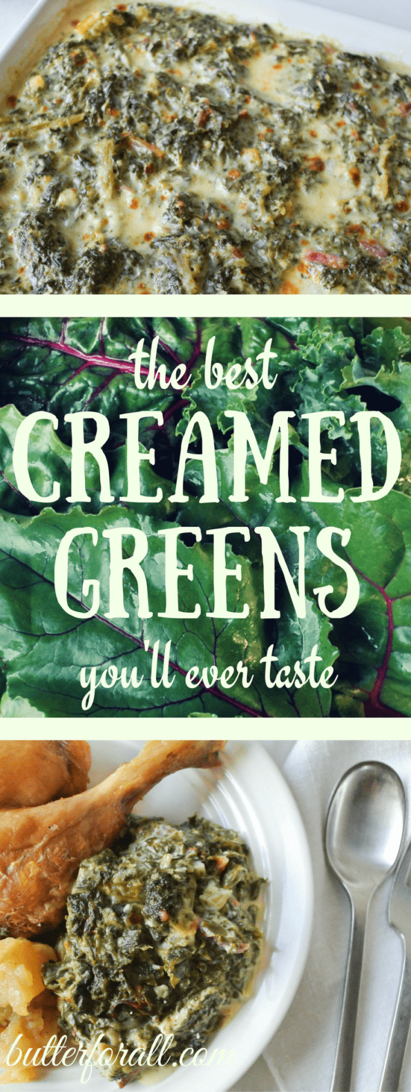 The Best Creamed Greens You'll Ever Taste - Low-Carb And Keto Friendly #realfood #beettops #cheese #brie #spinach #cream #healthyfats #lchf #keto #Thanksgiving #Christmas #sidedish