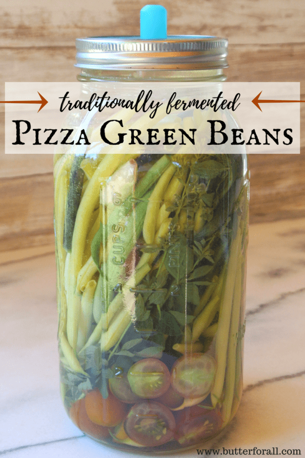 Crunch and delicious fermented green beens with the classic pizza flavors of garlic, oregano and tomatoes.