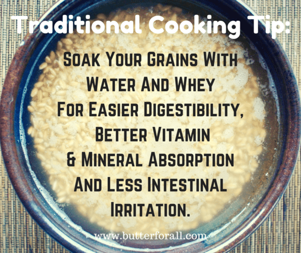 Soak Your Grains, Butter For All