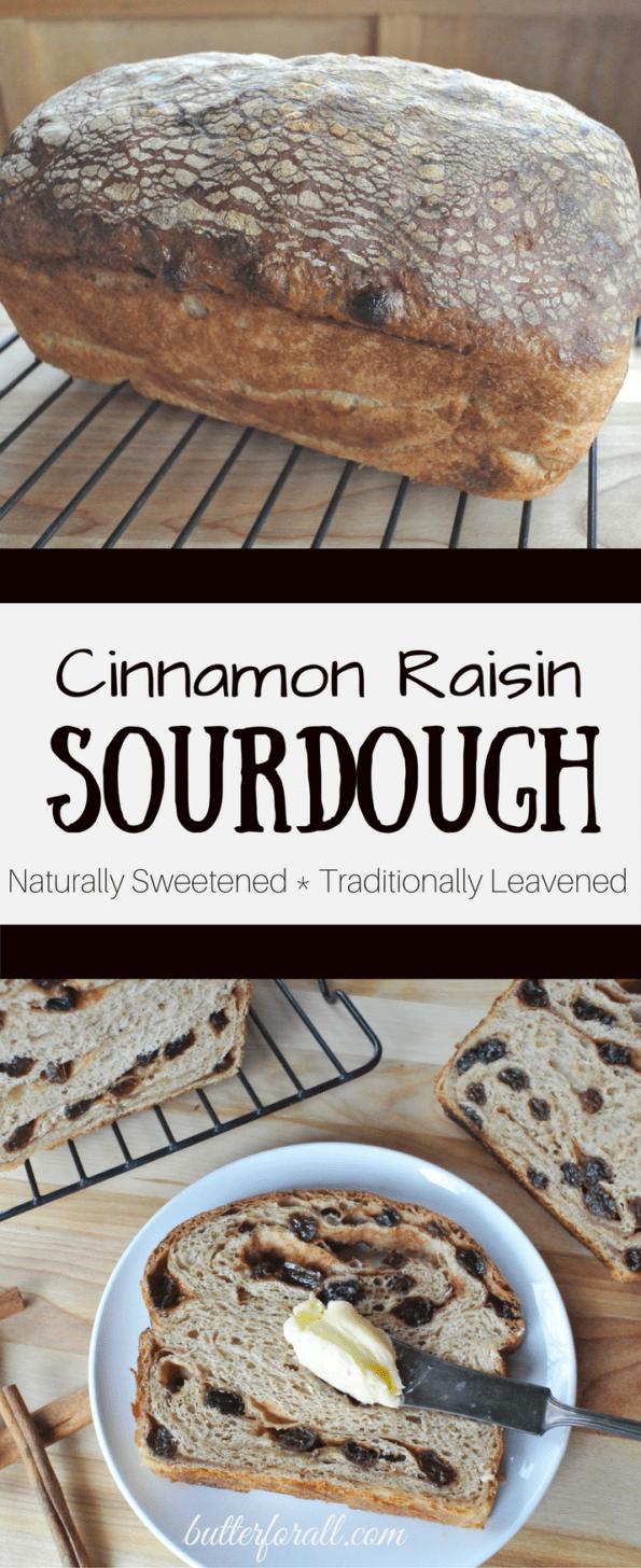 Cinnamon Raisin Sourdough Bread - Sweetened With A Maple Syrup Swirl