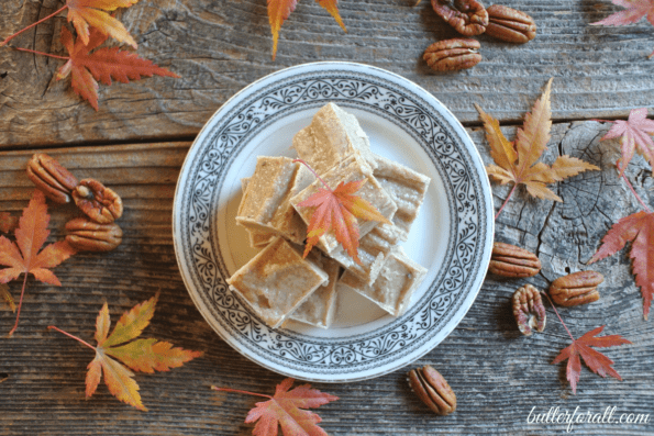 This maple pecan fudge is the perfect fall snack, loaded with healthy fats and low I =carbs you can indulge with this recipe!