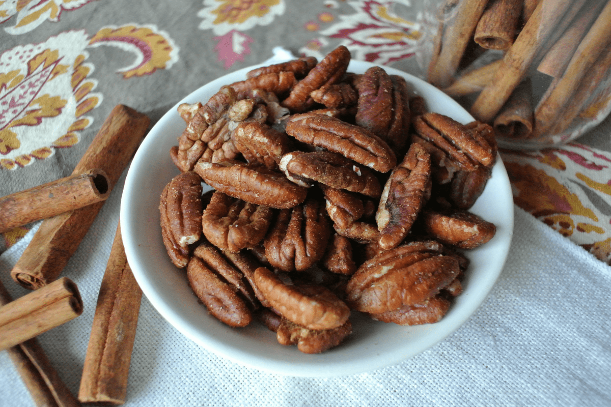 Sugar Free Cinnamon Maple Roasted Pecans