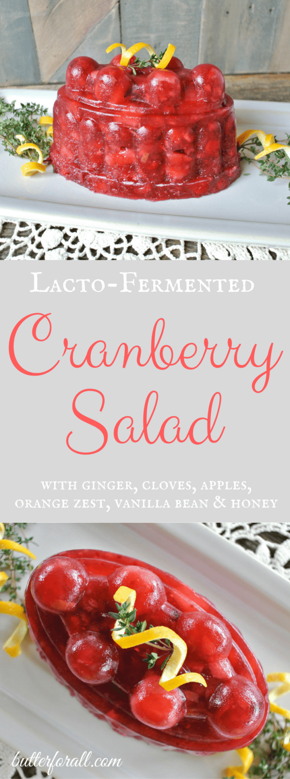 Lacto-Fermented Cranberry Salad will be your new nourishing holiday tradition!