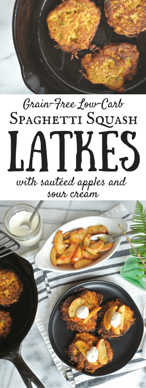 Spaghetti Squash Latkes - Grain-Free And Low-Carb
