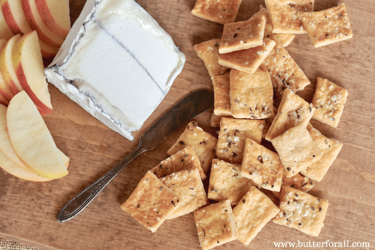 Delicious Rustic Sourdough Butter Crackers