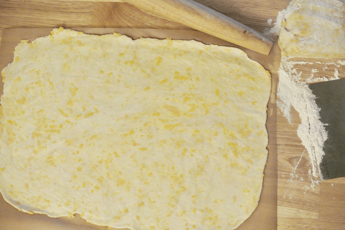 The easy to work with dough.