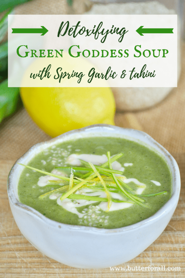 This delicious soup is packed with healthy green and detoxifying cilantro.