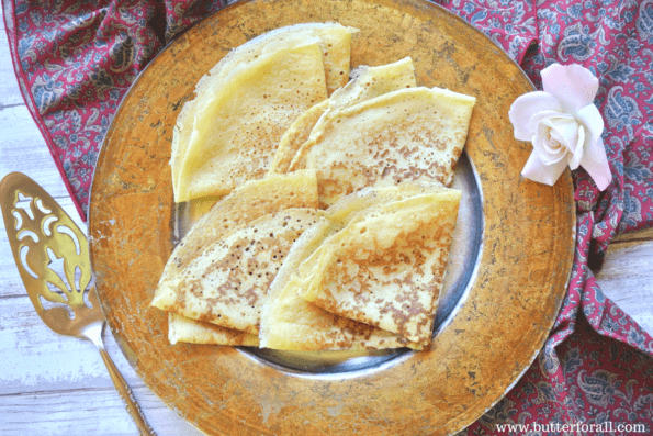 The perfect traditionally fermented crepe batter for sweet or savory toppings, fillings and sauces!