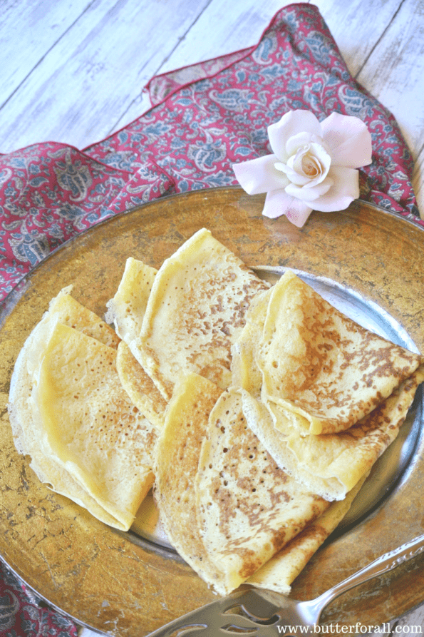 Soft and chewy sourdough crepes that are perfect for sweet or savory fillings, toppings and sauces.