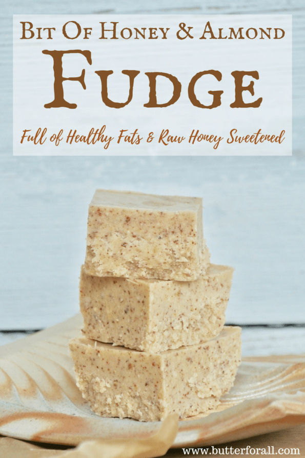 The timeless flavors of honey and almond come together in a satisfying fudge full of healthy fats.