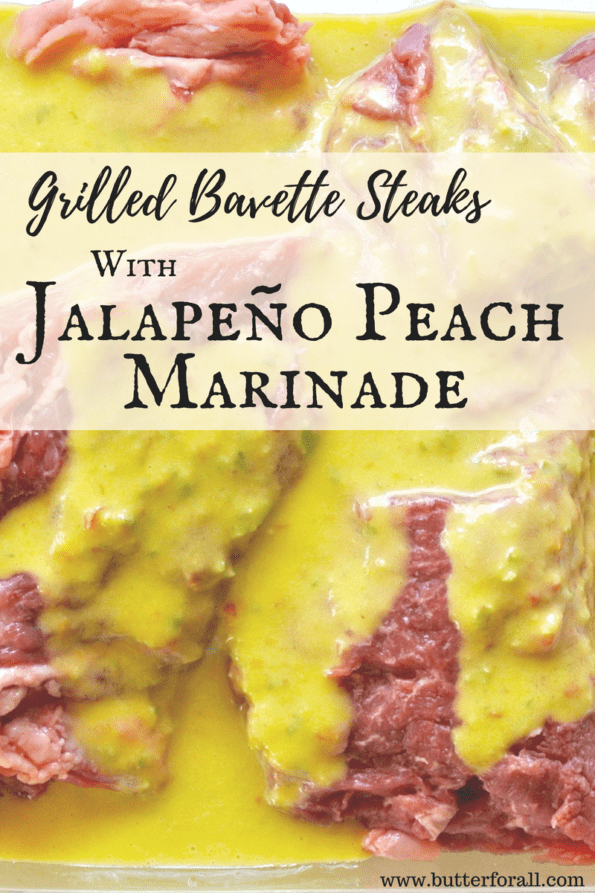 This Jalapeño Peach Marinade is the perfect combination of sweet and spicy.