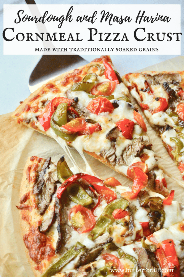 A thin and crispy, traditionally prepared, soaked grain pizza crust perfect for a busy weeknight.