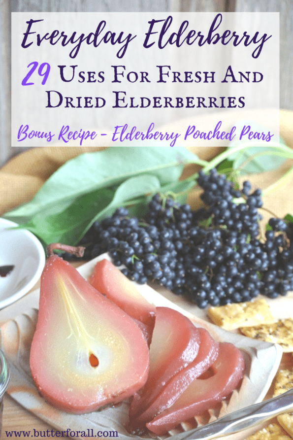Elderberry Poached Pears on a elderberry inspired cheese plate.
