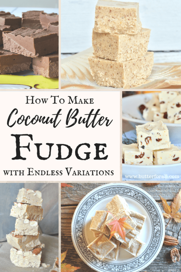 Coconut Butter Fudge is easy and healthy! It's full of healthy saturated fats and can be sweetened with raw honey or your favorite low-carb or keto sweetener. Coconut Butter Fudge is perfect for anyone who loves fudge but doesn't want to eat refined sugar!