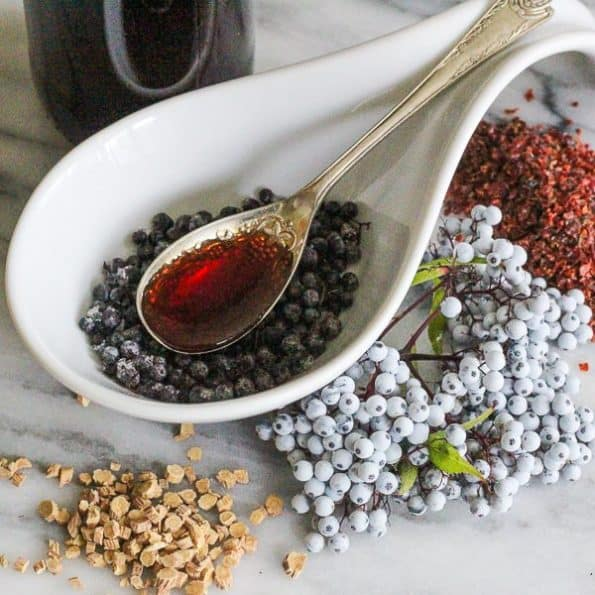 Elderberry Syrup And Herbs