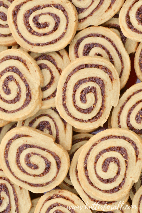 A big plate full of these flaky jammy cranberry sourdough pinwheels will make a big splash on your holiday table! #realfood #properlypreparedgrains #nourishingtraditions #sourdough #refinedsugarfree