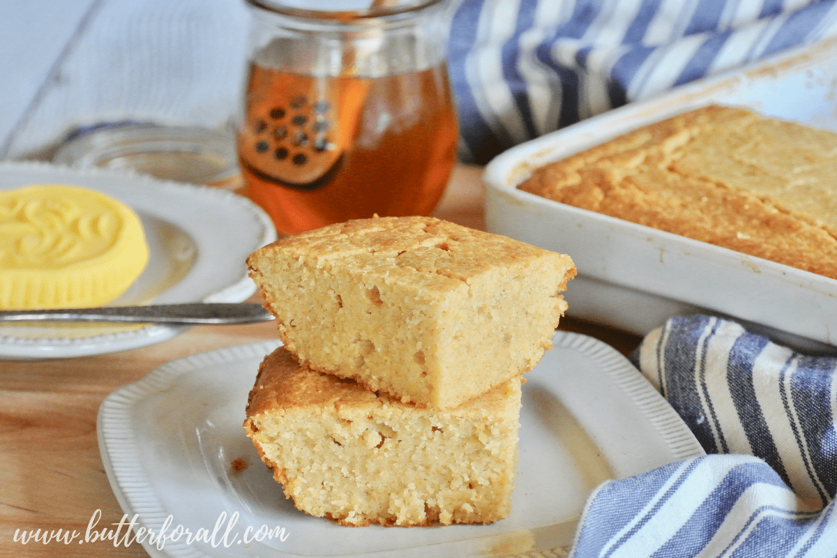 If you are craving a lightly sweetened cornbread made with real food ingredients then this is the recipe for you! This masa harina cornbread is made with properly prepared corn and sprouted wheat and sweetened with just a tad of honey for a perfectly balanced real food cornbread.